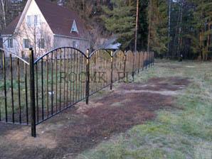 Сварной забор на даче